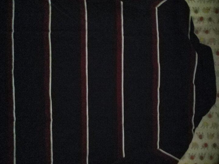 李宁官方男子运动时尚系列纯棉吸湿短袖POLO衫APLM157 男装 深豌蓝/深栗红/乳白色/银灰色 L 晒单图