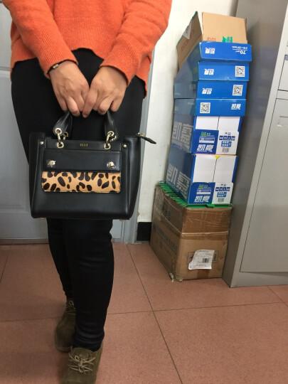 ELLE女包  款光面豹纹单肩包女斜挎包 手提包手拎包包 70666 浅灰色 晒单图