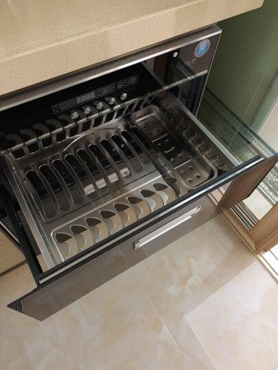 森太(SETIR) F280消毒柜嵌入式家用厨房消毒碗柜 黑色钢化玻璃轻触按键款 黑色钢管款 晒单图