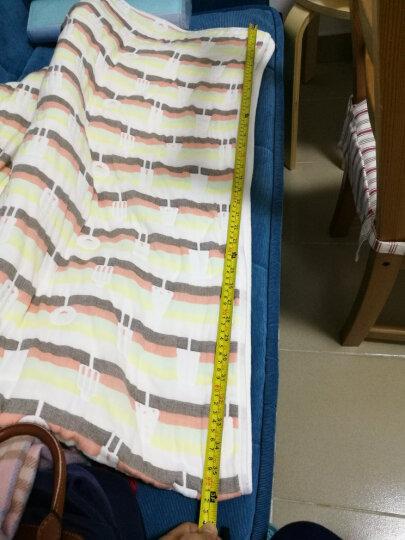 南极人 全棉六层纱布毛巾被空调被  纯棉儿童卡通夏凉被宝宝毛毯子成人单双人空调毯办公室休闲午休毯 波点蓝(六层纱) 200cmX230cm 晒单图