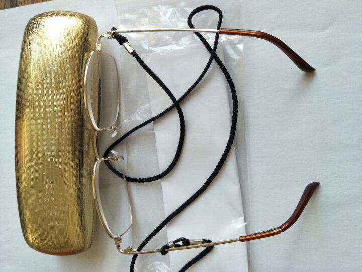 田崎TASAKI老花镜男款轻便高清折叠老人眼镜女款老花镜 全框款300度 晒单图