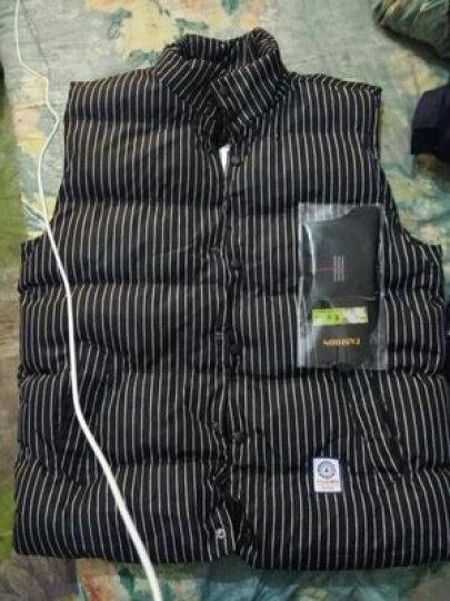 知也 马甲男外套2018春款韩版保暖坎肩背心情侣款无袖外套修身男 藏青条纹 XL 晒单图
