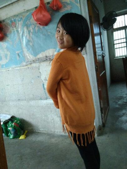 女童毛衣儿童高领加绒套头中长款打底衫针织裙童装加厚毛线衣中大童5-15岁 花边领黑色(不加绒) 160建议身高150-155cm 晒单图