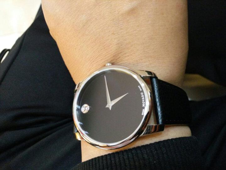 摩凡陀(Movado)官方旗舰店 瑞士手表 博物馆系列 MUSEUM CLASSIC 男士石英手表 皮带腕表银色 0607012 晒单图