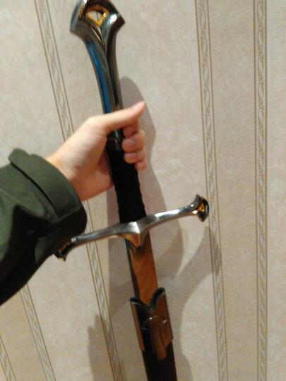 魔戒指环王纳西尔圣剑 阿拉贡剑 魔剑货币特人剑 经典版 西洋剑 收藏装饰挂板剑 未开刃 晒单图