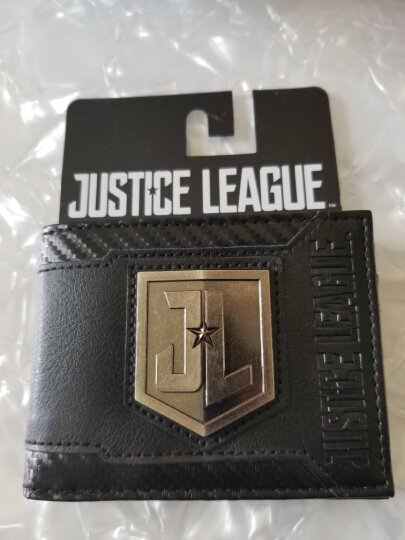 【动漫城】正义联盟 电影视周边 DClogo男士短款钱包 两折横款皮夹 多功能驾驶证卡包 图案钱包MW5GKBJLM 晒单图