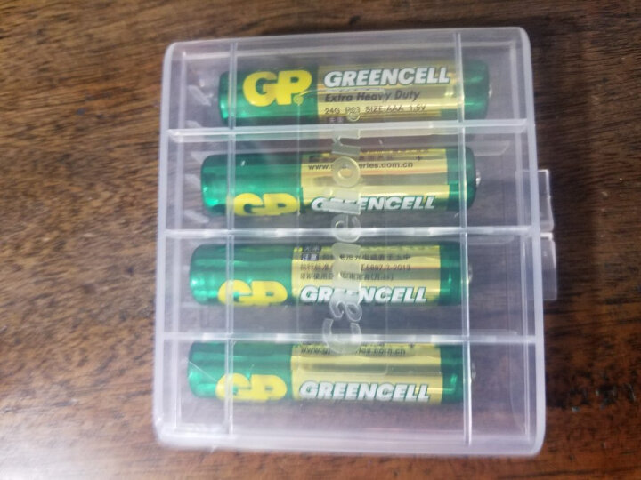 超霸(GP)24G-2IL4碳性电池7号4节装闹钟遥控器手电筒收音机AAAR03 晒单图