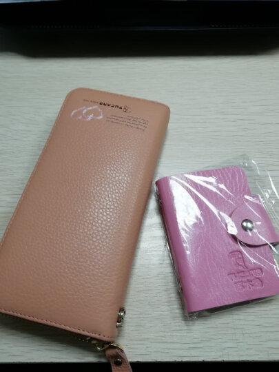 啄木鸟(TUCANO)女式包包 女士钱包长款牛皮 粉色手拿包手抓包大容量 韩版女包 1891米白 晒单图