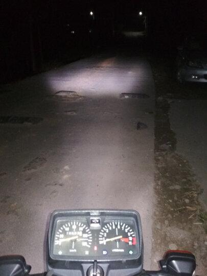 美蒂亚 石栏电动车灯摩托车灯高亮9-85V双爪三爪单爪通用内置远近光LED大灯泡 双爪10W+10W各亮一面 晒单图