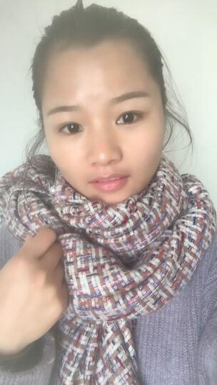 拓瑟围巾女冬季新品学生韩版时尚加厚球球保暖女士围巾披肩 咖色 晒单图