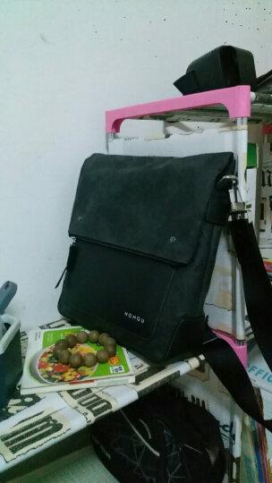 红谷HONGU男士大牌单肩斜挎包时尚个性日字包竖款男包  H5290464深灰 晒单图