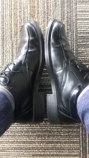 奥康男鞋 日常商务正装鞋英伦鞋男系带皮鞋男时尚休闲耐磨商务鞋男 棕色 42 晒单图