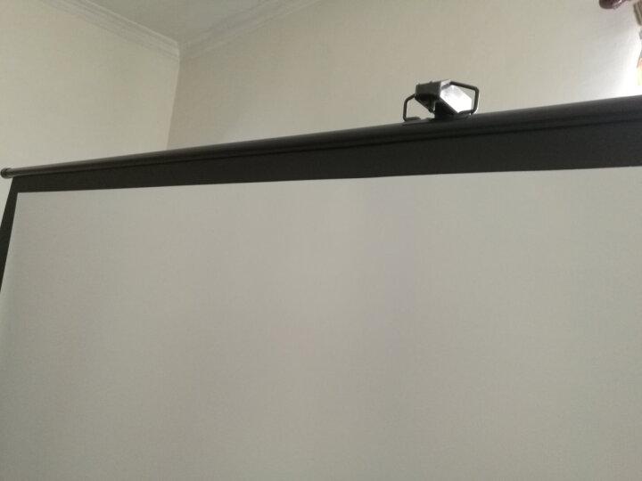 MEITOOT投影仪支架幕布100英寸16:9白玻纤高清投影机幕布 商务会议办公移动便携投影落地屏幕 晒单图