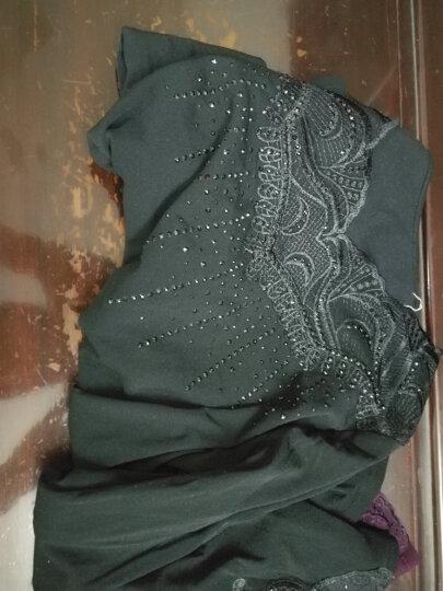 秋季网纱打底衫女长袖t恤修身蕾丝2017新款上衣小衫大码纱衣外穿 蓝色薄款 L 晒单图