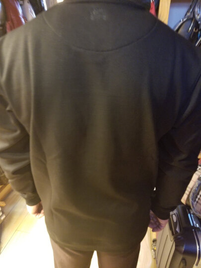 Jeep吉普新款长袖T恤男 秋冬纯色圆领打底衫舒适弹力上衣 灰色 XL/180 晒单图
