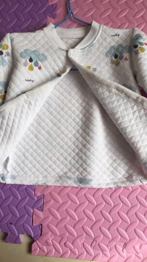南极人(Nanjiren)【17款】婴儿空气棉保暖内衣套装宝宝衣服两件套 棉花糖蓝色-肩扣 80CM 晒单图