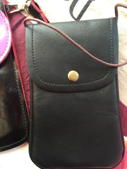 圣迪威(Sendio)4.6英寸-6英寸随身斜跨手机包 挂脖手机零钱包 黑色 晒单图