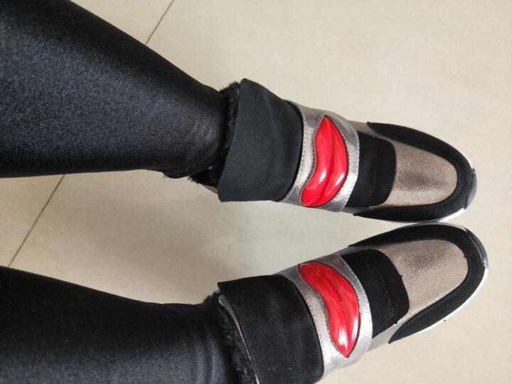 雅丝雨 雪地靴女冬季短筒靴加绒保暖 内增高女鞋 棉鞋女学生冬季保暖加绒 时尚运动休闲棉靴女 白灰色加绒 37 晒单图