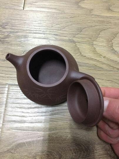 此时此刻 紫砂壶纯全手工家用宜兴泡茶壶名家收藏茶壶紫泥竹节刻绘石瓢壶送紫砂杯茶具送礼装 段泥竹叶刻绘(单壶) 晒单图