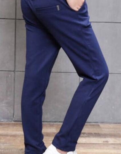 童装男童裤子长裤加绒加厚8秋冬款6中大童裤子10休闲裤12男孩运动裤13青少年加大儿童裤子 勋章藏青色 160 晒单图