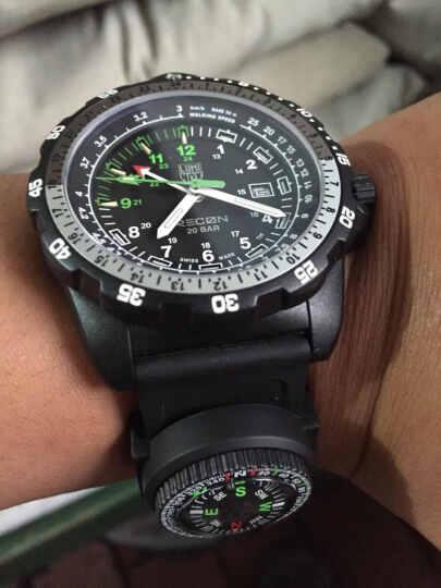 瑞士Luminox雷美诺时 8831.KM 户外防水男表手表军表  氚气自发光 晒单图