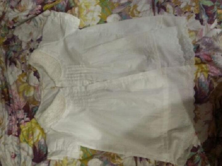 璞衣 森女风小清新双层领白色短袖衬衫 白色 均码 晒单图