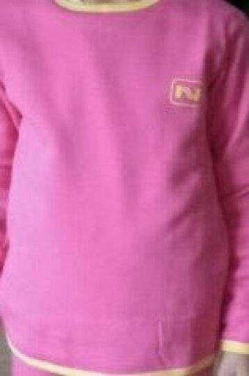 南极人(Nanjiren)儿童内衣 男女童黄金绒暖甲保暖内衣一体加绒加厚秋衣秋裤套装 西瓜红 160 晒单图