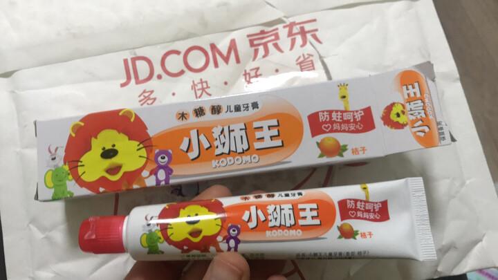 狮王(Lion)小狮王木糖醇儿童牙膏40g(桔子) 晒单图