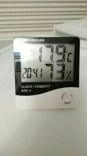 新绿天章/电子温湿度计办公家用室内外温度计带时间闹钟/湿度计 晒单图