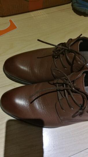 芭步仕增高鞋8cm男士商务正装皮鞋隐形内增高男鞋新郎结婚鞋 黑色-标准码 41 晒单图
