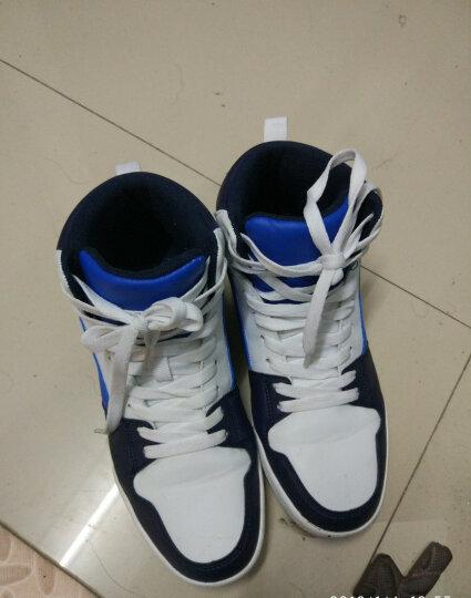 美特斯邦威春男高帮板鞋男舒适高帮时尚板鞋202145 蓝色组 250mm(40) 晒单图