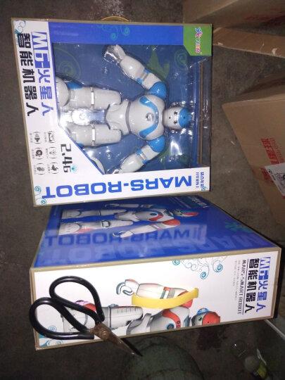 YIER 智能遥控机器人新年礼物儿童男孩女孩玩具充电机械战警可对战唱歌跳舞儿童电动智能 加大版机器人 蓝色 晒单图