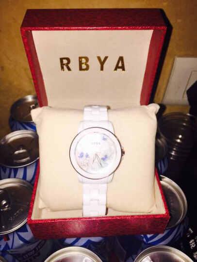 罗比亚(RBYA)手表白色陶瓷女表 时尚潮流石英表女款腕表女士表SC.O21 6025格桑花蓝色款 晒单图