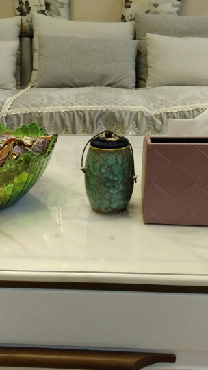 添尚 茶叶罐 陶瓷窑变茶具醒茶罐 密封储蓄罐红茶普洱茶罐 款式4窑变茶叶罐-浅绿 晒单图