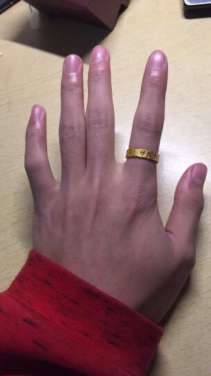 周生生黄金戒指足金六字大明咒戒指男女款结婚对戒 83215R 计价 21圈 - 3.89克(含工费140元) 晒单图