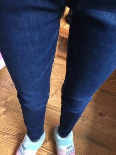 布翎情 牛仔裤女2018春装新款松紧腰高腰修身小脚靴裤铅笔牛仔裤 浅蓝色 XL 晒单图