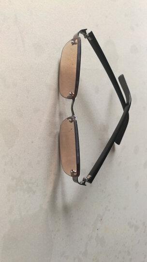 Silver Mink天然水晶眼镜打孔玻璃防疲劳高清晰清凉明目男女老花眼镜 水晶茶片200度(包盒镜布) 晒单图