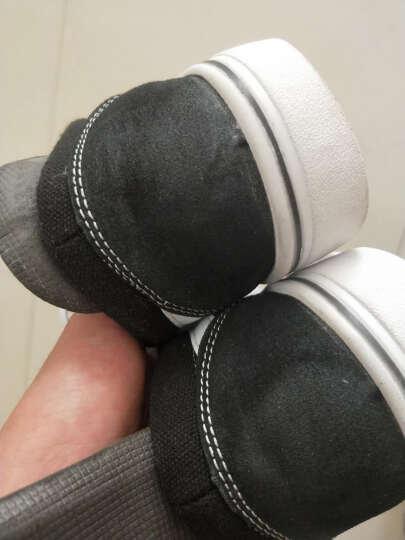 潮至 2018春秋季新款平板鞋帆布鞋男时尚复古运动休闲鞋学生 黑色 42 晒单图