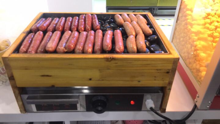 电热方形火山石烤肠机商用家用石炉烤炉台湾石头烤热狗肠机器 晒单图