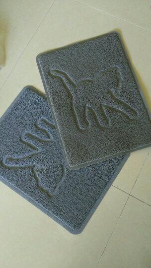 宠物猫砂垫 猫沙清洁垫子 猫猫蹭脚垫猫砂盆滤砂垫猫咪用品 方形猫砂垫-灰猫 晒单图