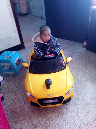 贝瑞佳(BeRica)奥迪婴幼儿童电动车四轮可坐人小孩遥控汽车宝宝玩具童车 【双驱】黄色+蓝牙遥控+音乐早教+360度摇摆 晒单图