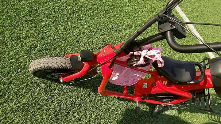 FIIDO(飞道) 电动自行车折叠电动车女士亲子电动车 便携锂电池电瓶车迷你电动滑板车 青春版时尚红40KM 7.8Ah 晒单图