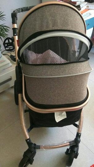 亿宝莱(yibaolai) 婴儿推车儿童高景观可坐可躺婴儿车宝宝童车手推车伞车 V18-B(酒红色)四轮橡胶 晒单图