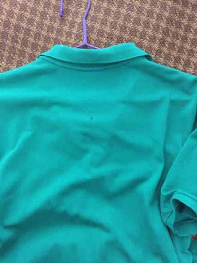 卡帝乐鳄鱼(CARTELO)商务休闲翻领夏季男士polo衫短袖t恤 1775 烈火橙 XXL 晒单图