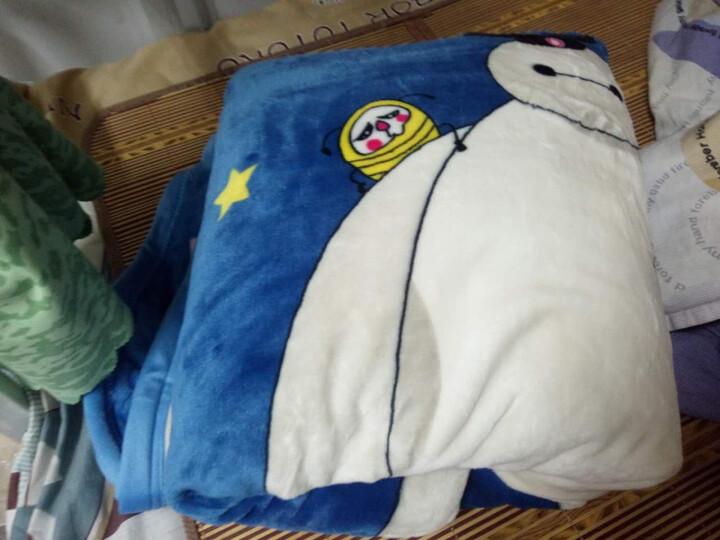 天池茗品毛毯被夏季加厚珊瑚绒毯子薄垫床单人双人盖毯办公室夏学生小儿童毛毯垫四季夏天 流年 180*200cm加厚款380克/平方 晒单图