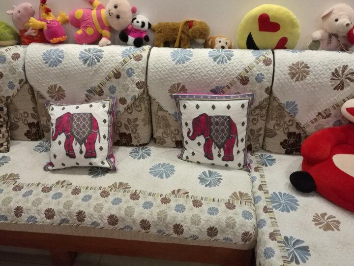 富居 新中国风刺绣抱枕 沙发床靠垫45*45cm 神骑 抱枕套-不含芯 晒单图