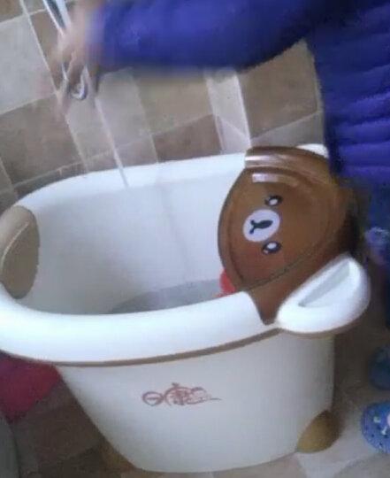 日康浴桶儿童洗澡桶宝宝大号加厚可坐浴盆0-15岁泡澡桶婴儿小孩沐浴桶 精灵浣熊 小号 晒单图