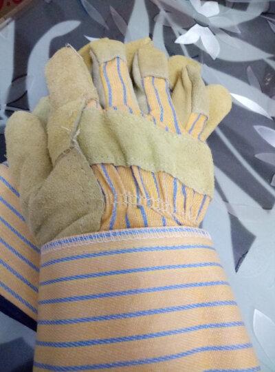 威特仕 / WELDAS 10-1206经济款海员手套帆布半皮手套耐磨耐油手套 1副简装 晒单图