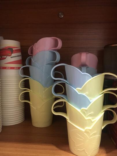 家英 一次性纸杯杯托 纸杯架塑料饮水杯杯托开水隔热托6个装 颜色随机 晒单图