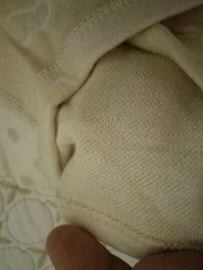 馨颂 婴儿连体衣宝宝彩棉衣服新生儿内衣蝴蝶衣哈衣爬服 C210C 天然绿 73 晒单图